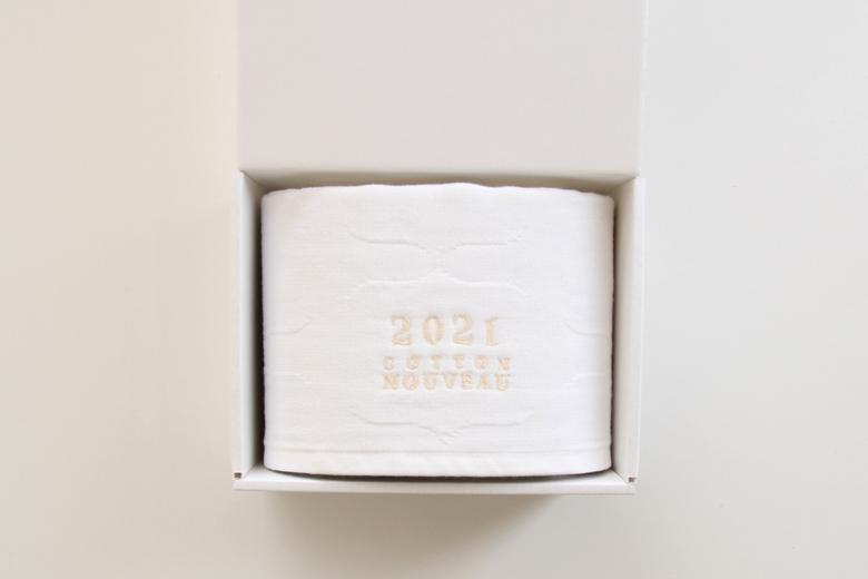 年号刺繍入りのベビーガーゼブランケット