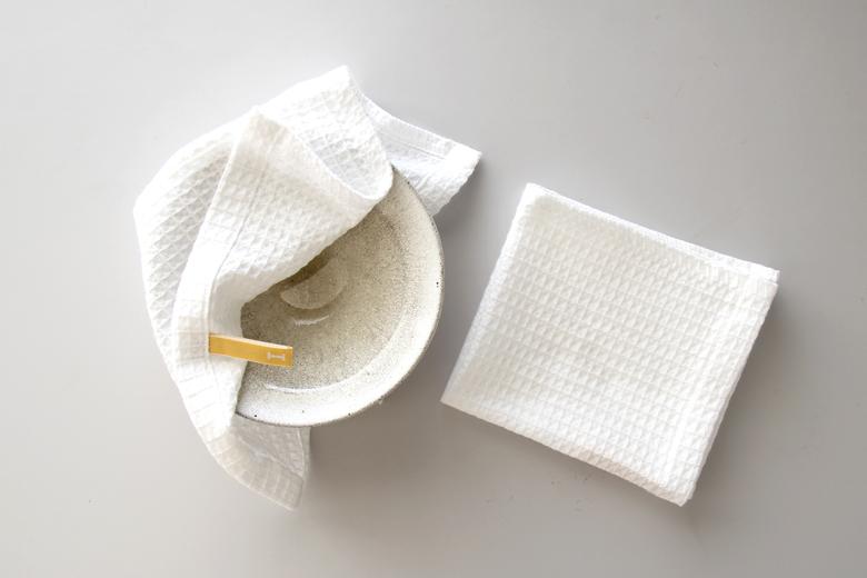 食器拭きとしておすすめのワッフルタオル